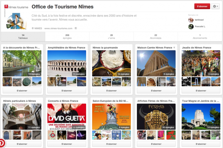 Pinterest Office de Tourisme de Nimes
