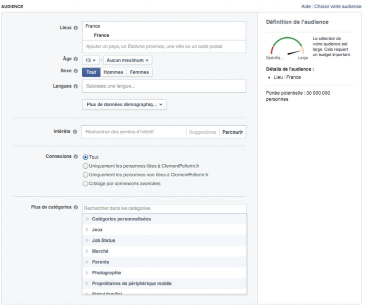 Module publicitaire Facebook