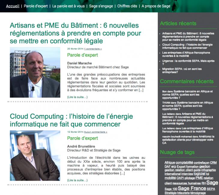 Blog Sage France
