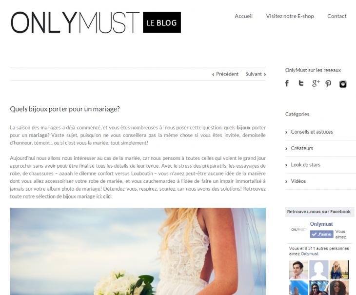 Conseils sur le blog Onlymust