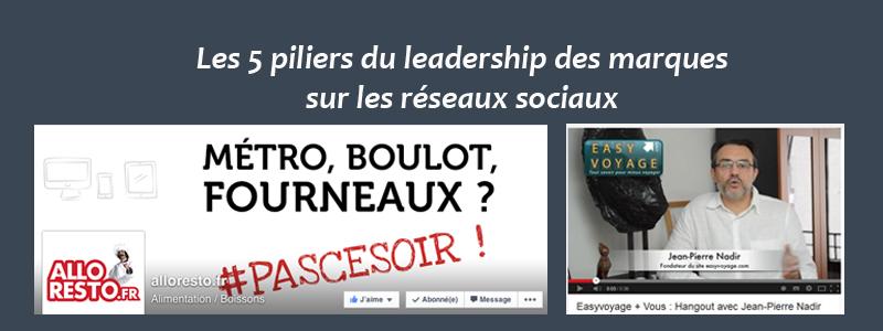 Leadership des marques sur les réseaux sociaux