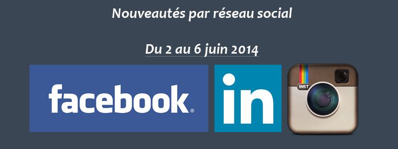 Nouveautés par réseau social - 020614