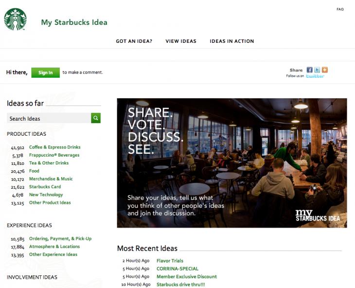 Starbucks Idea
