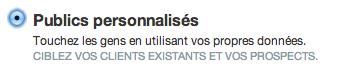Twitter Ads - Publicité Twitter - Publics personnalisés