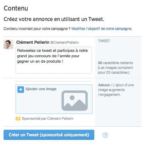 Engagements sur un tweet