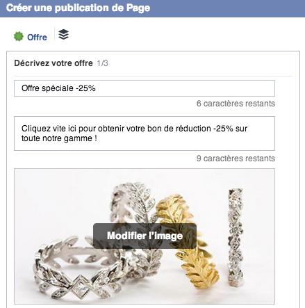 Offre spéciale Facebook