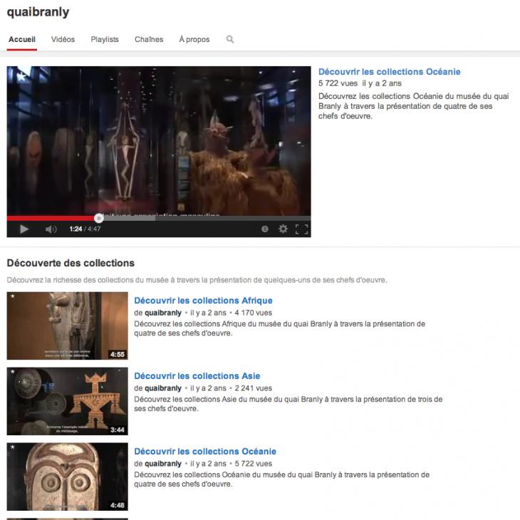 Quai Branly - Chaîne Youtube