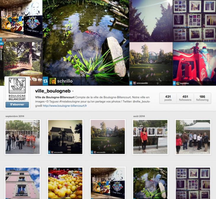 Instagram Boulogne Billancourt