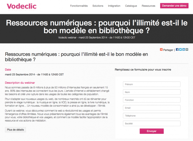 Webinar Vodeclic