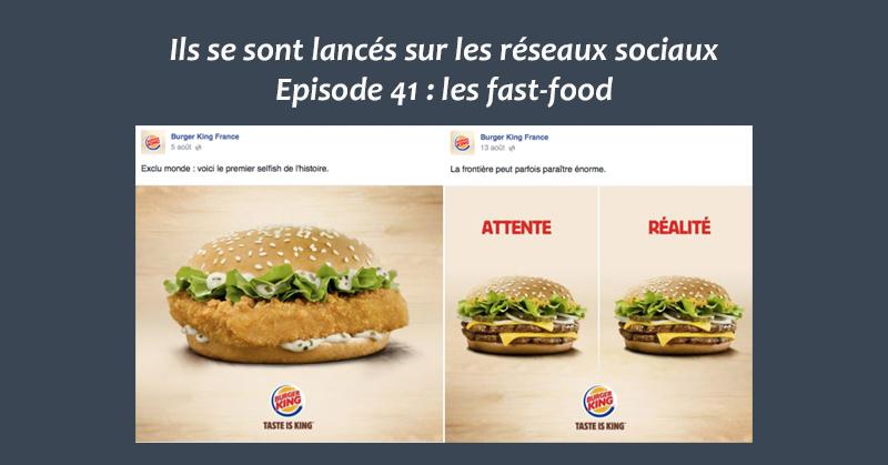 Fast-food sur les reseaux sociaux