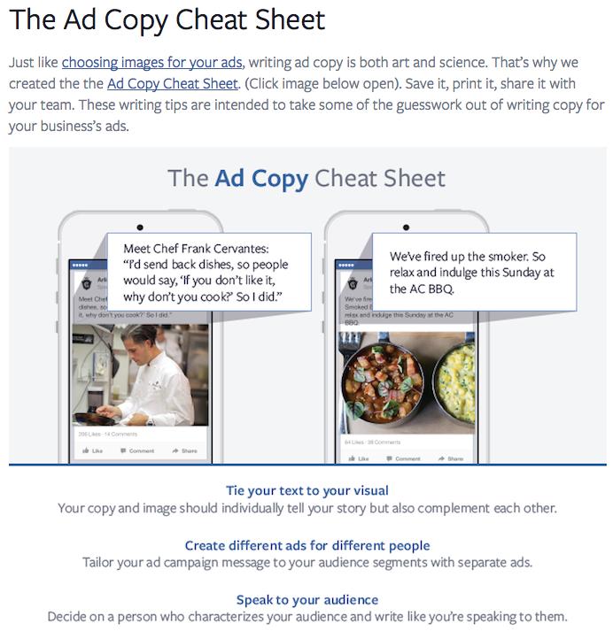 Ad Copy Cheat 2 - Formation aux reseaux sociaux