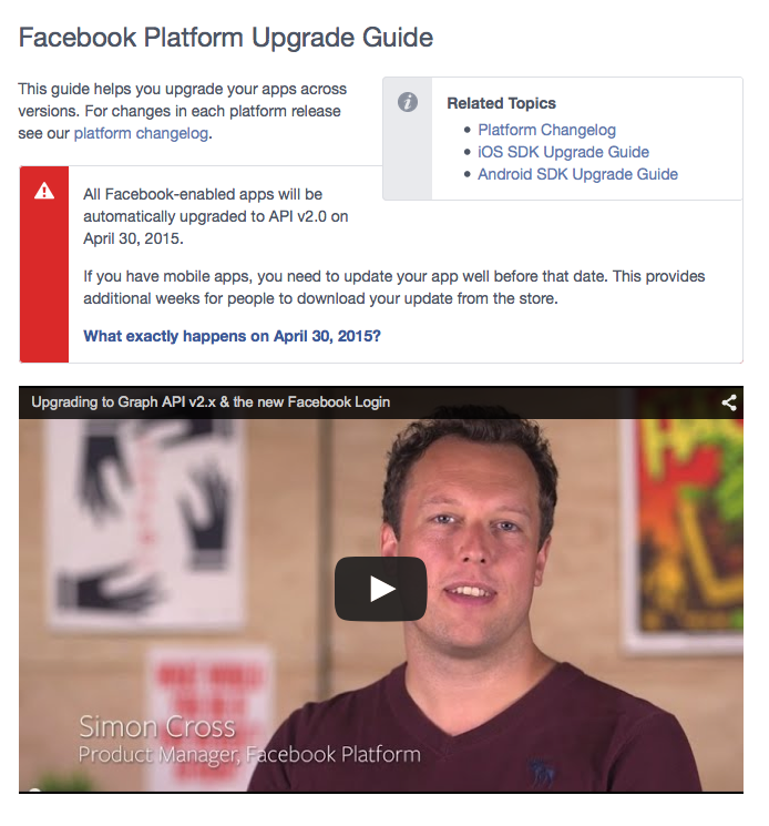 API Facebook - Formation reseaux sociaux