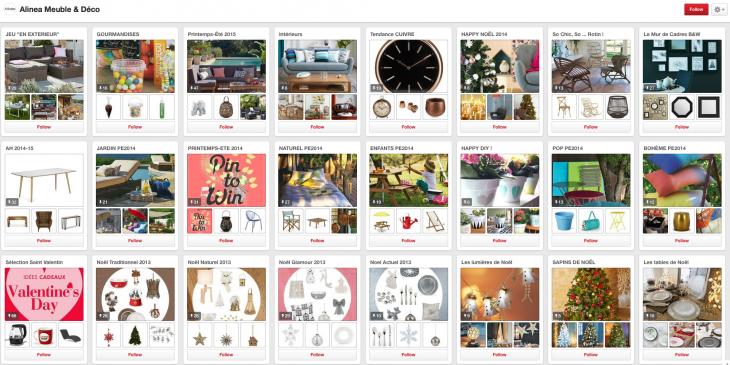 Alinea sur Pinterest 2 - Formation reseaux sociaux