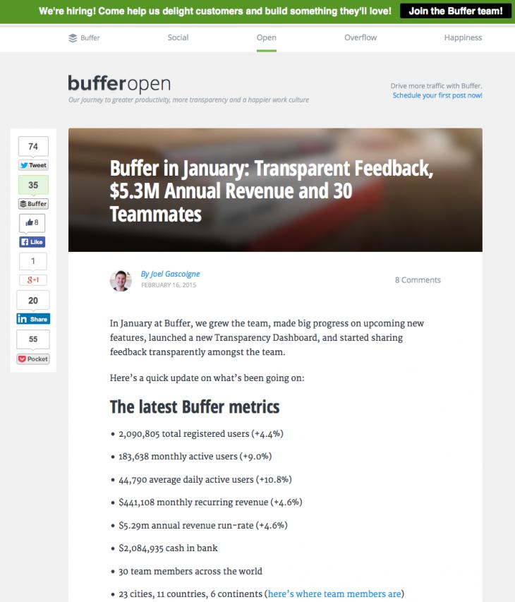Buffer - Transparence - Formation reseaux sociaux