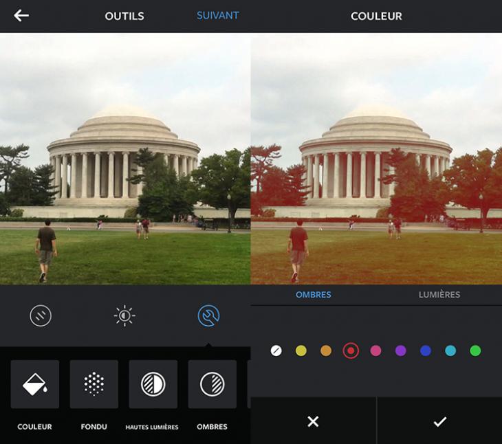 Couleurs Instagram - Formation reseaux sociaux