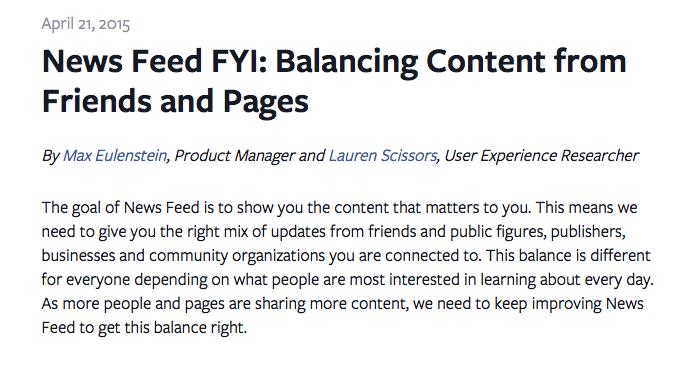 Edge Rank Facebook - Formation reseaux sociaux