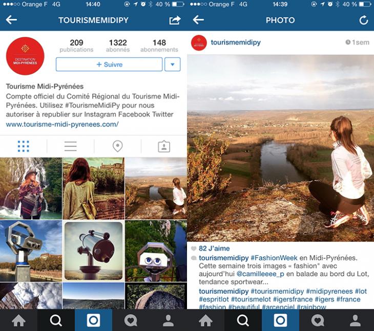 Instagram - Midi Pyrennees - Formation reseaux sociaux