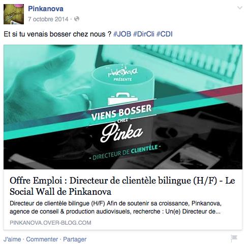 Job - Pinkanova - Formation reseaux sociaux