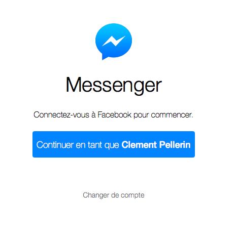 Messenger web - Formation reseaux sociaux