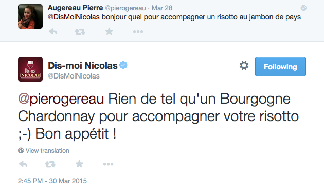 Nicolas Twitter 1 - Formation reseaux sociaux