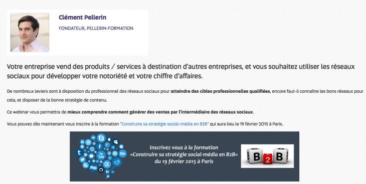 Webinar Clement Pellerin - Formation reseaux sociaux
