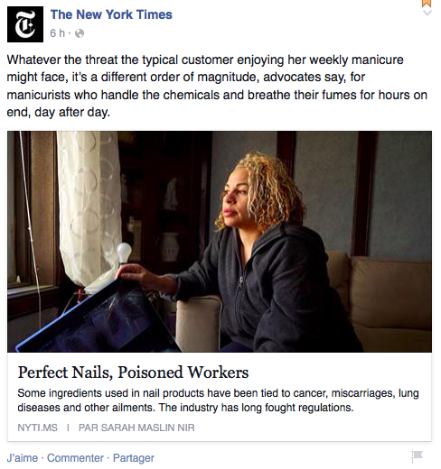 New York Times - Facebook