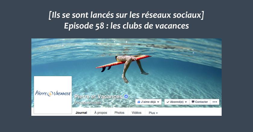 Clubs de vacances sur les reseaux sociaux