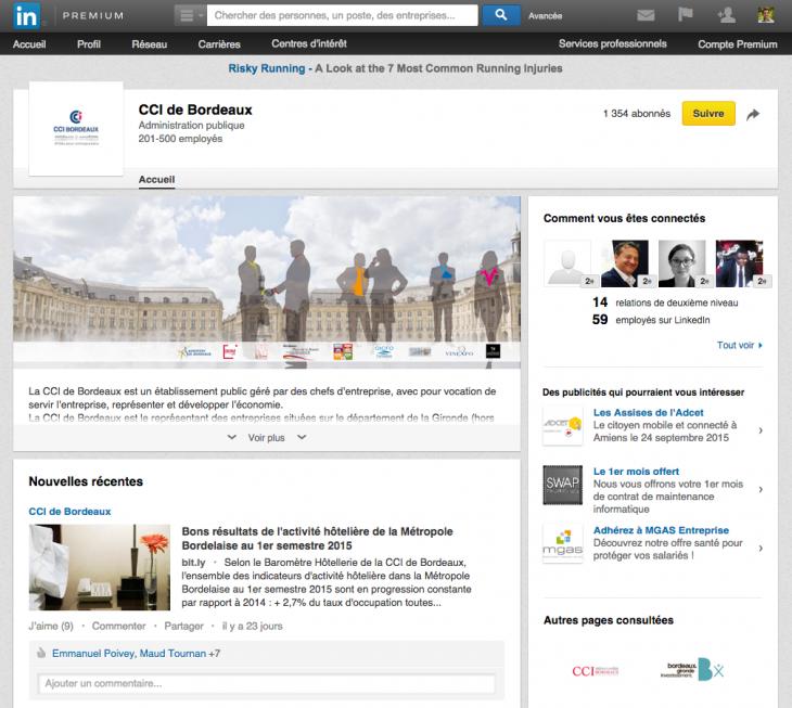 LinkedIn CCI Bordeaux