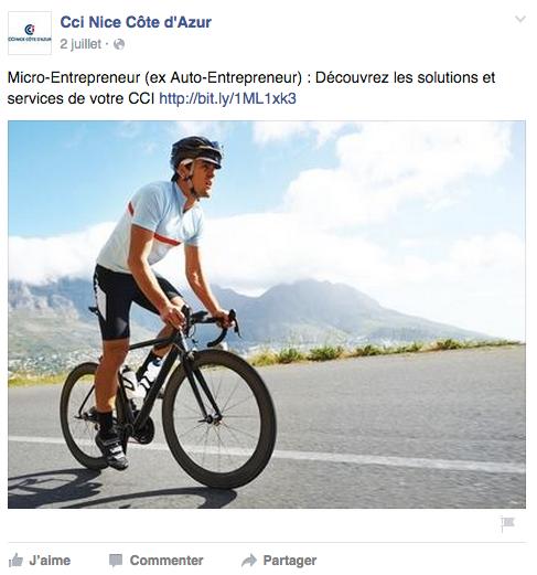 Publication Facebook Micro Entreprise