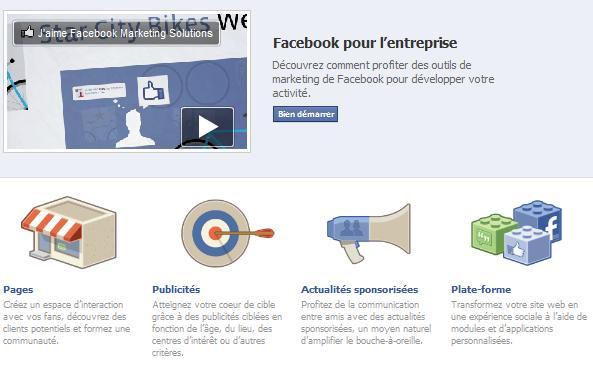 Facebook pour petits business
