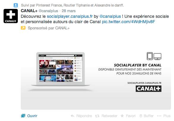 Publicité Twitter