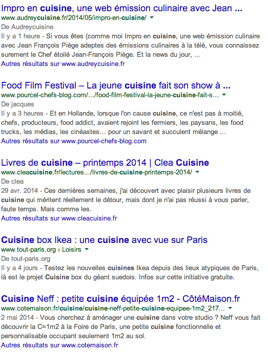 Blogs cuisine