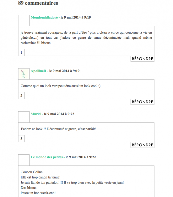 Commentaires blog