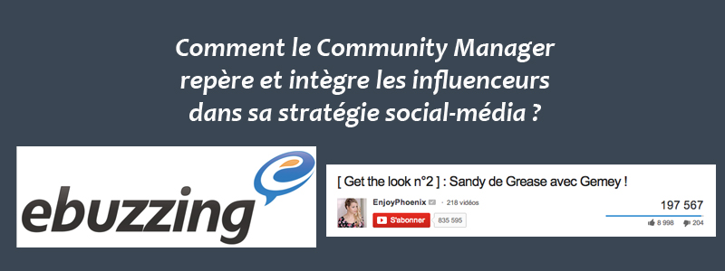 Influenceurs et Community Manager