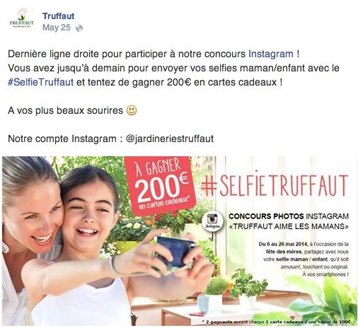 Jeu-concours Instagram Truffaut