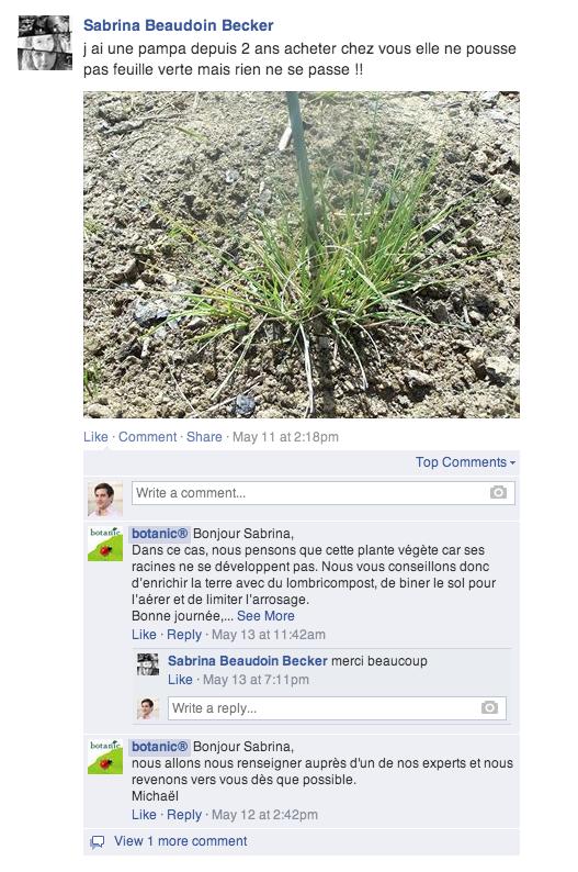 Relation client Botanic