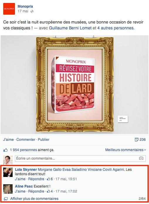Monoprix Facebook
