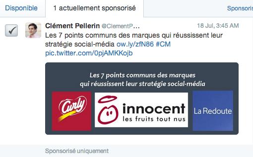 Promouvoir un tweet - Twitter Ads