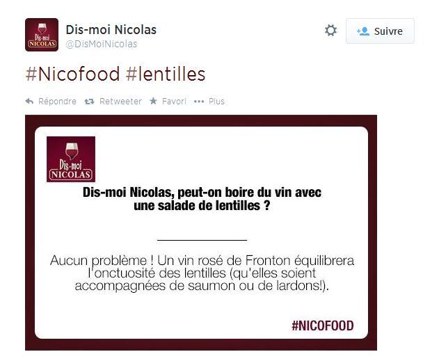 Réponse à un tweet - Dis Moi Nicolas