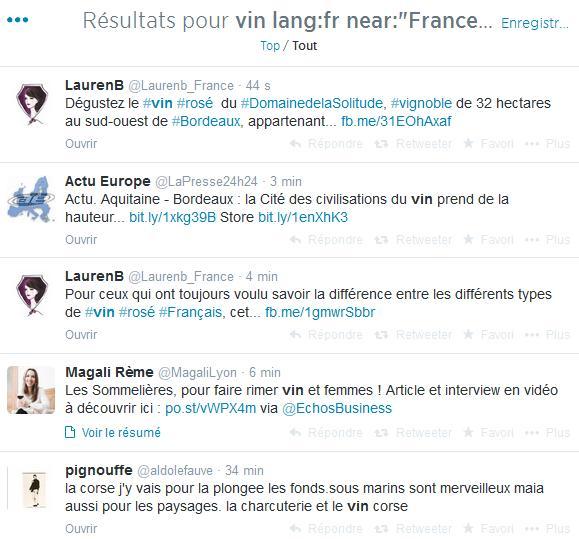 Vin sur Twitter - Exemple 1