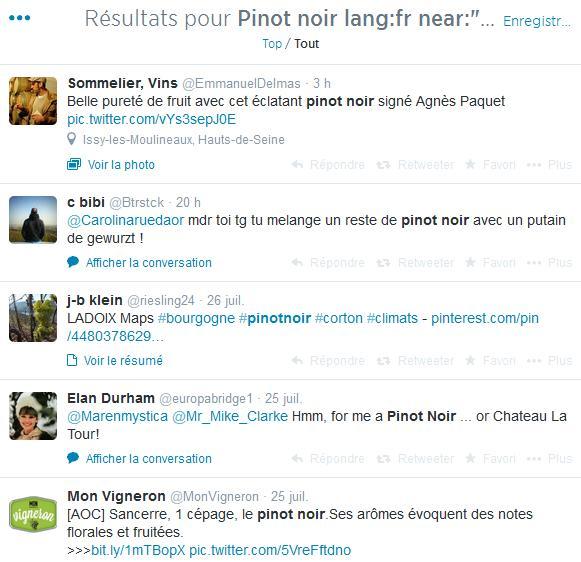 Vin sur Twitter - Exemple 2