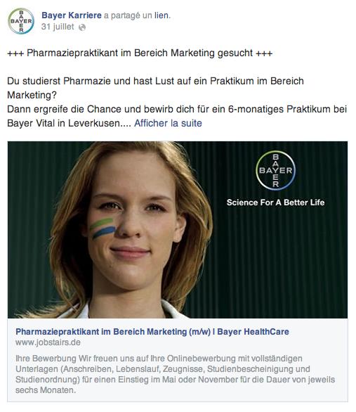 Bayer Recrutement 2