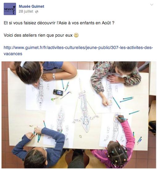 Cours de dessin pour les petits - Musée Guimet