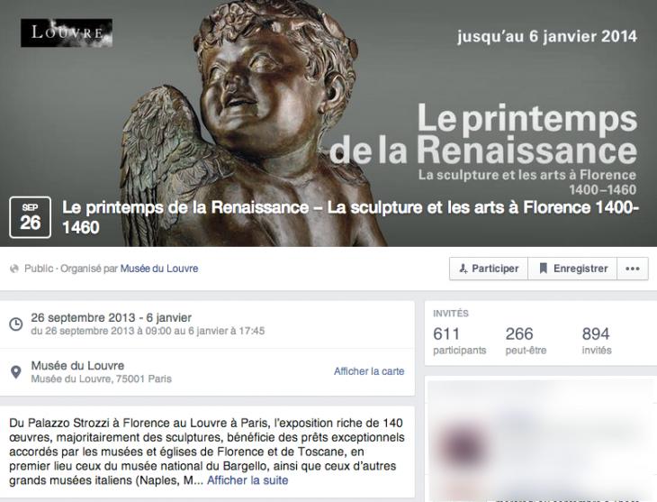 Evenement Facebook - Musée du Louvre