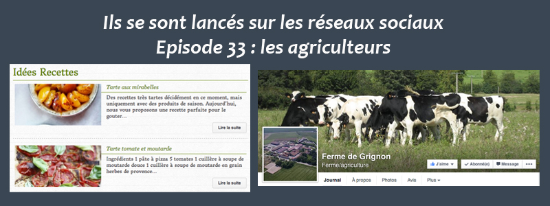 Les agriculteurs sur les réseaux sociaux