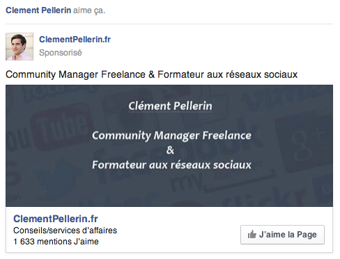 Mentions J'aime Une page Facebook