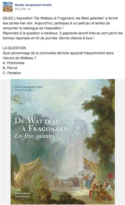 Quiz Jeu concours - Musée Jacquemart André