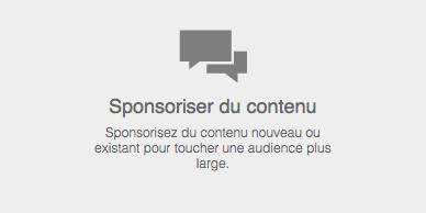 Sponsoriser du contenu