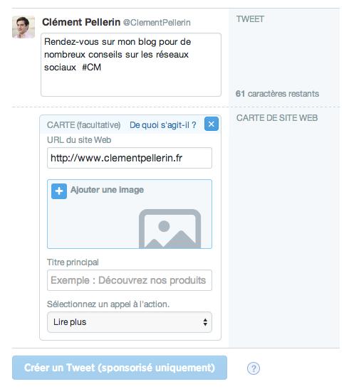 Trafic et conversions vers un site web Twitter