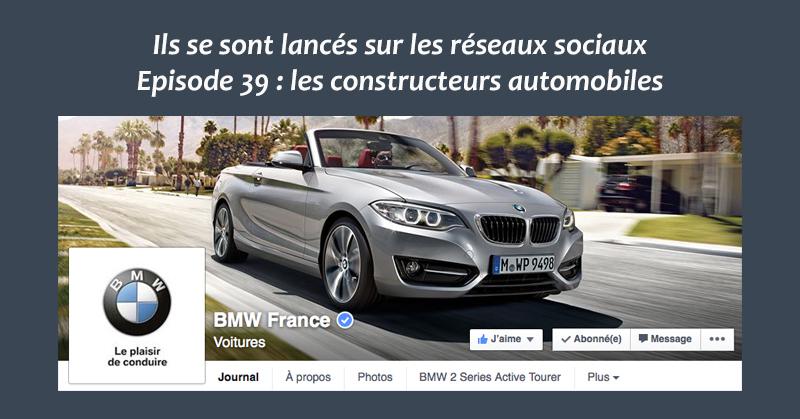 Les constructeurs automobiles sur les reseaux sociaux
